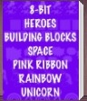 Beistle Party Supplies - 8-Bit Heroes, Building Blocks, Space