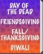 Beistle Day of The Dead, Friendsgiving, Fall/Thanksgiving Party Supplies Decorations