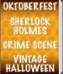 Oktoberfest, Sherlock Holmes, Crime Scene, Vintage Halloween Party Supplies